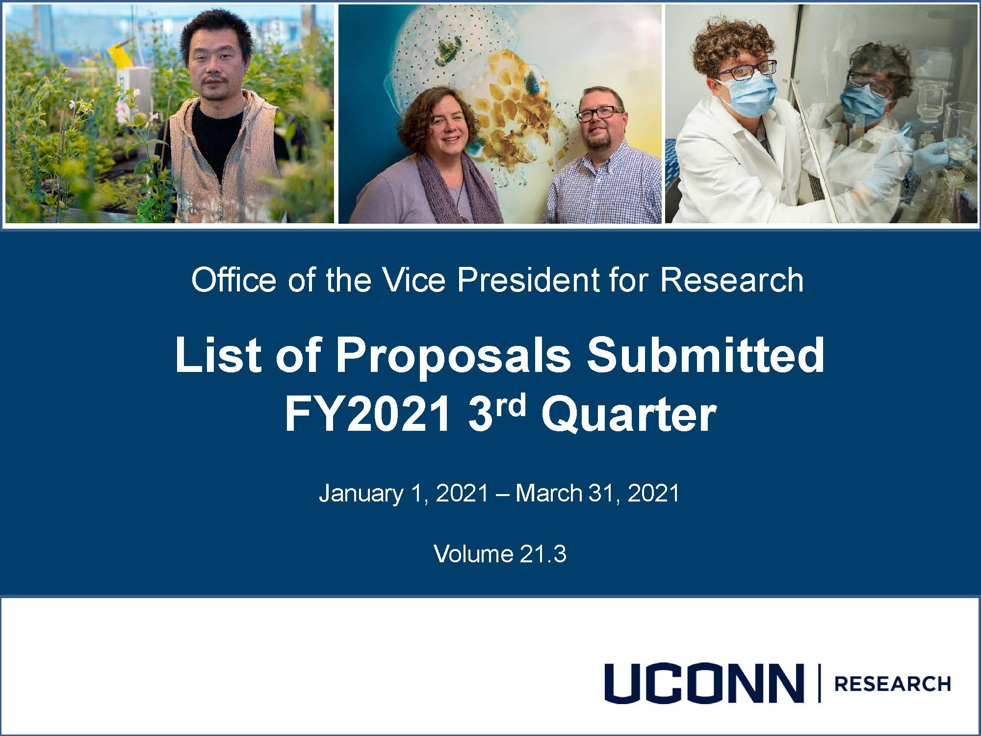 FY21Q3 Proposals Submitted Report Cover